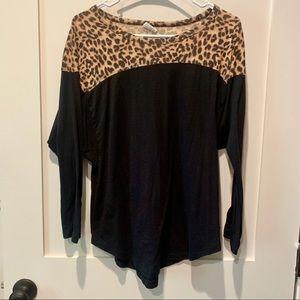 Victoria's Secret PINK Cheetah Long Sleeve Shirt